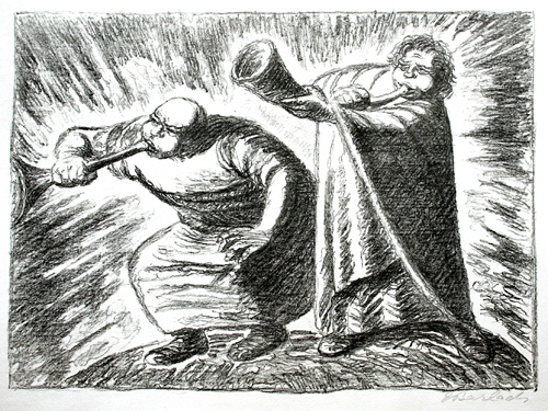 Ernst Barlach: Der neue Tag (The New Day). 1932. Lithograph.