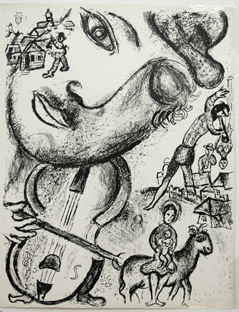 Marc Chagall lithograph: Si je pouvais. . . . From Le Cirque, 1967.