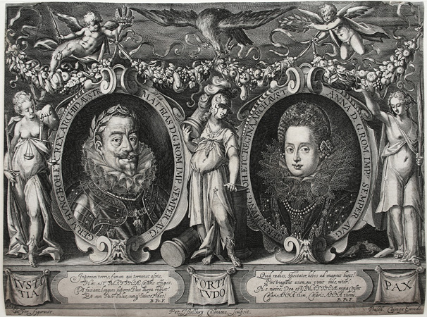 Double Portrait of Emperor Matthias and His Wife Empress Anna.