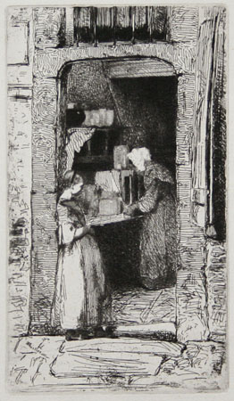 James McNeill Whistler etching: La Marchande de Moutarde (The Mustard Seller).